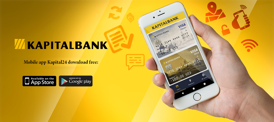 Mobile app Kapital24 Visa is a convenient and safe tool that allows